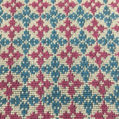 1 1/2 Yards Geometric  Woven  Fabric