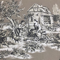 11 Yards Animal Toile  Print  Fabric