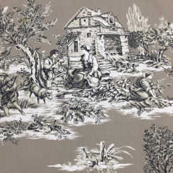 12 Yards Toile  Print  Fabric
