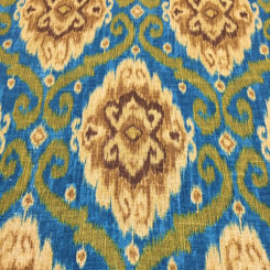 4 3/4 Yards Damask Geometric  Basket Weave Print  Fabric