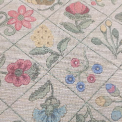 18 Yards Diamond Floral  Woven  Fabric