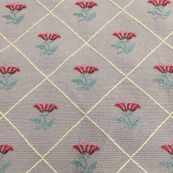 17 1/2 Yards Diamond Floral  Woven  Fabric