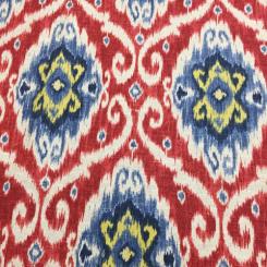 11 Yards Ikat  Basket Weave Print  Fabric