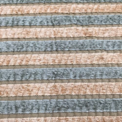 2 Yards Stripe  Textured Chenille  Fabric