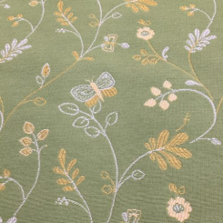 1 1/2 Yards Animal Floral  Woven  Fabric