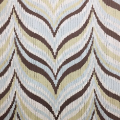 4 1/2 Yards Abstract Geometric  Ribbed  Fabric