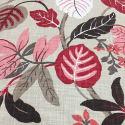 9 Yards Floral  Basket Weave Print  Fabric
