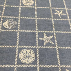 2 Yards Nautical Plaid/Check  Woven  Fabric