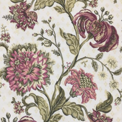 6 Yards Floral  Woven  Fabric