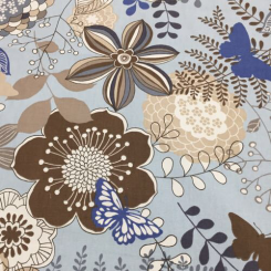 6 Yards Floral Animal  Print  Fabric