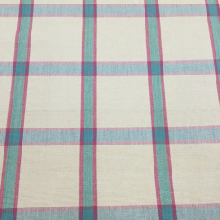 9 Yards Plaid/Check  Woven  Fabric