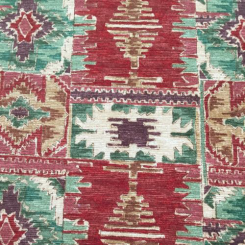 11 Yards Abstract Geometric  Chenille  Fabric