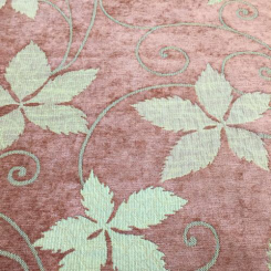 7 Yards Floral  Chenille Textured  Fabric