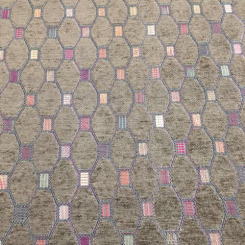 2 Yards Diamond Geometric  Chenille  Fabric