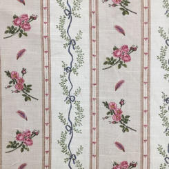 15 Yards Floral Stripe  Print  Fabric