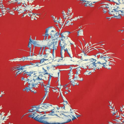 15 Yards Toile  Print  Fabric