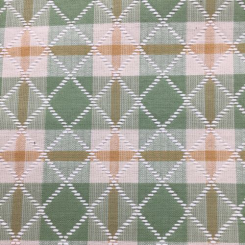 12 Yards Diamond Plaid/Check  Woven  Fabric