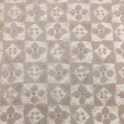 12 Yards Floral Plaid/Check  Vinyl  Fabric