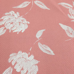 10 Yards Floral  Basket Weave Print  Fabric