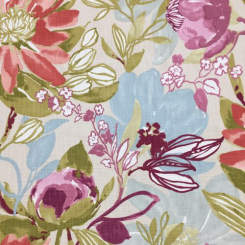 12 1/2 Yards Children Floral  Basket Weave Print  Fabric