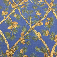 10 Yards Diamond Floral  Print  Fabric