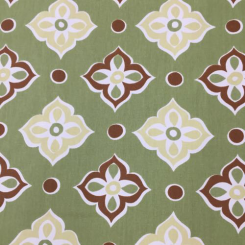 3 3/4 Yards Diamond Floral  Print  Fabric