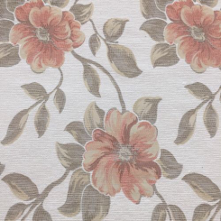 15 Yards Floral  Ribbed  Fabric