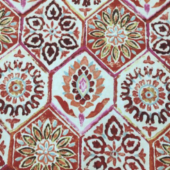 18 1/2 Yards Floral Geometric  Print  Fabric