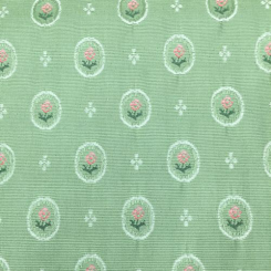 9 1/2 Yards Floral Polka Dots  Woven  Fabric
