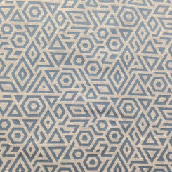 6 Yards Geometric  Woven  Fabric