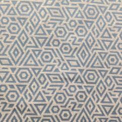 6 Yards Geometric  Woven  Fabric
