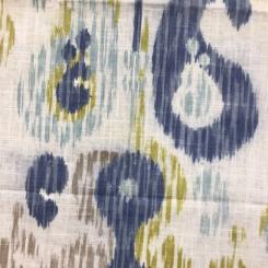 2 Yards Ikat  Print  Fabric