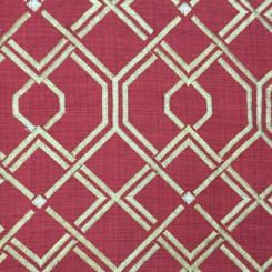 4 1/2 Yards Diamond Geometric  Embroidered  Fabric