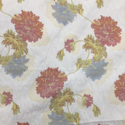 1 1/2 Yards Floral  Woven  Fabric