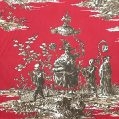 18 Yards Toile  Print  Fabric