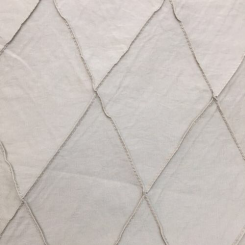 15 1/4 Yards Diamond Solid  Embroidered Satin  Fabric