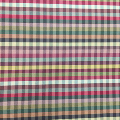 9 Yards Geometric Plaid/Check  Satin  Fabric