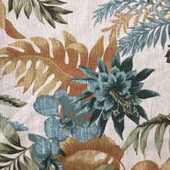 8 1/2 Yards Floral Nature  Print  Fabric