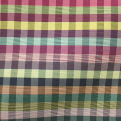 10 1/4 Yards Plaid/Check  Satin Woven  Fabric