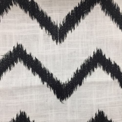 2 1/2 Yards Chevron  Embroidered  Fabric