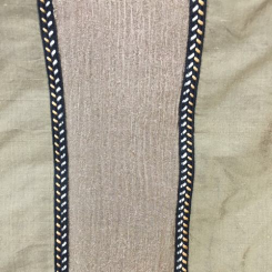 5 1/2 Yards Stripe  Embroidered  Fabric