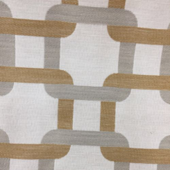 1 1/4 Yards Geometric  Embroidered  Fabric