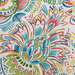 2 1/2 Yards Floral Paisley  Print  Fabric