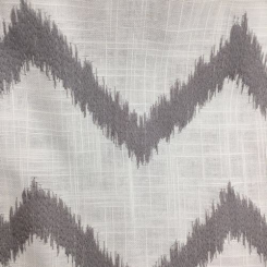 4 1/4 Yards Chevron  Embroidered  Fabric