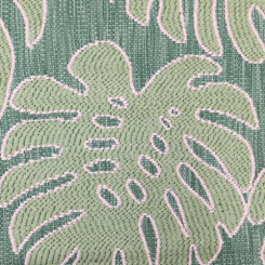 1 1/2 Yards Floral Nature  Embroidered Woven  Fabric