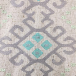 3 Yards Diamond Geometric  Embroidered  Fabric