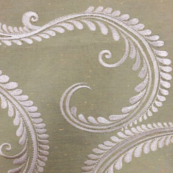 2 1/2 Yards Damask  Embroidered  Fabric