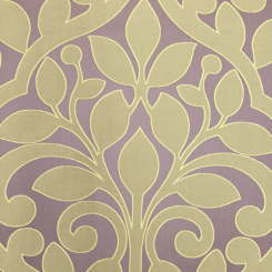 9 Yards Damask Floral  Embroidered Satin  Fabric