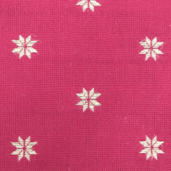 5 1/2 Yards Novelty Stars  Embroidered  Fabric
