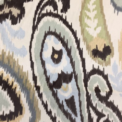 1 1/4 Yards Paisley  Faux Suede  Fabric